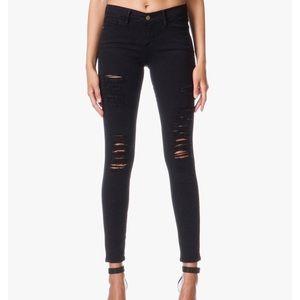 Frame Jeans Le Skinny de Jeanne Distressed Legging